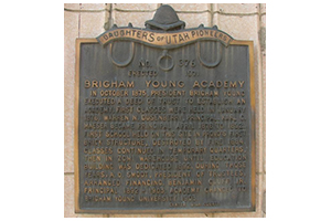 Brigham Young Academy Historical Marker