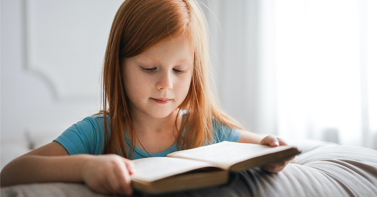 Girl Reading Chapter BOok