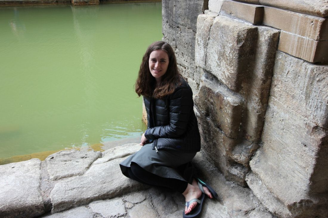 Joella at the Roman Baths in Bath