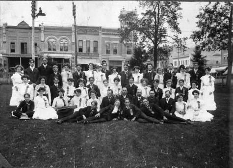 Parker School Eighth Grade graduating class of 1903